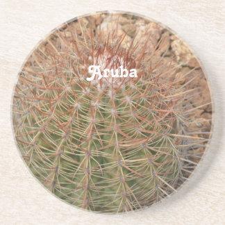 Cactus en Aruba Posavasos Para Bebidas