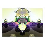 Cactus en el fractal del desierto invitación 8,9 x 12,7 cm