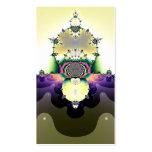 Cactus en el fractal del desierto plantillas de tarjeta de negocio