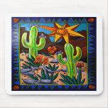 Cactus en el sudoeste alfombrillas de ratón
