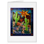 Cactus en el sudoeste tarjeta de felicitación