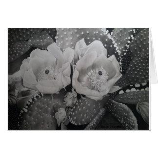 Cactus en la floración tarjeta de felicitación