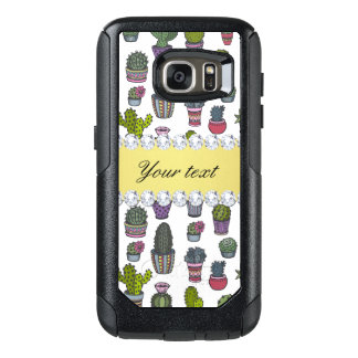 Cactus Faux Gold Bling Diamonds OtterBox Samsung Galaxy S7 Case