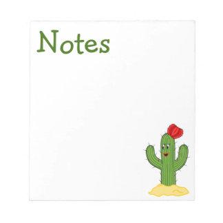Cactus feliz galón del dibujo animado bloc de notas