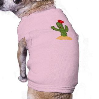 Cactus feliz galón del dibujo animado playera sin mangas para perro