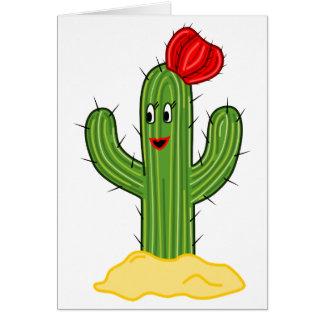 Cactus feliz galón del dibujo animado felicitaciones