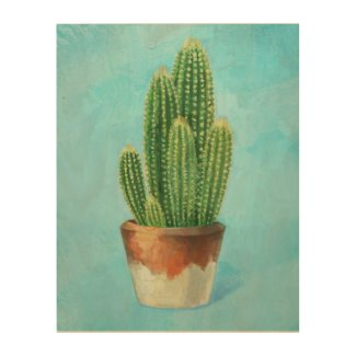 Cactus Fever Wood Wall Decor