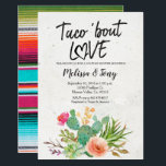 "Cactus Fiesta Couples Shower Invitation<br><div class=""desc"">Cactus Couples Shower Invitation,  Taco Bout Love with cactus and floral. Perfect for baby shower,  couples shower,  bridal shower,  etc.</div>"