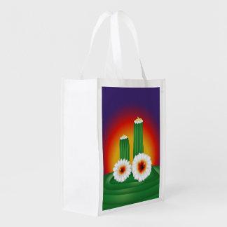 Cactus floreciente bolsas para la compra
