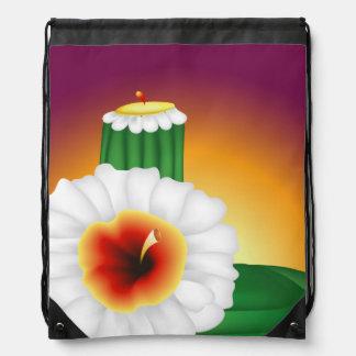 Cactus floreciente mochila