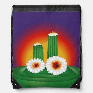 Cactus floreciente mochilas