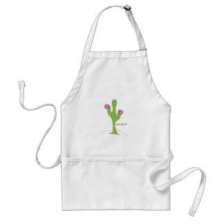 Cactus Flower Adult Apron