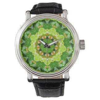 Cactus Flower Buds Fractal Wristwatch