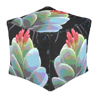 Cactus Flower Buds Outdoor Pouf