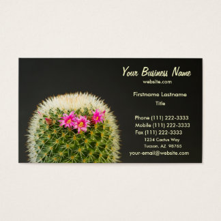 Cactus Flower Business Card Template