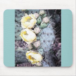 Cactus Flower Digital Ink Mouse Pad
