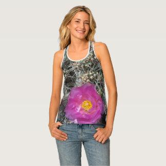 Cactus flower in bloom tank top