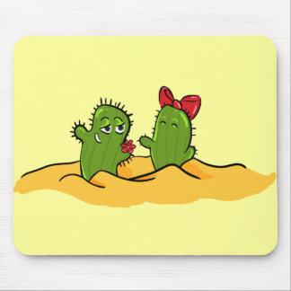 cactus flower love mousepad