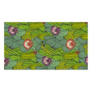 Cactus Flower Pattern Business Card