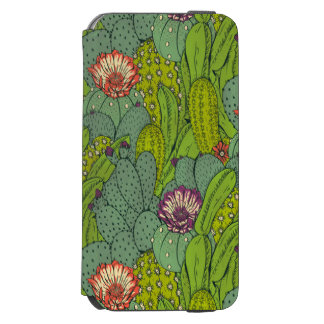 Cactus Flower Pattern iPhone 6 Wallet Case