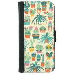 Cactus Flower Pattern iPhone 6 Wallet Case