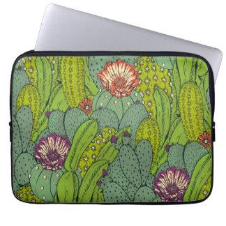 Cactus Flower Pattern Laptop Sleeve
