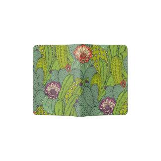 Cactus Flower Pattern Passport Holder