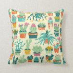 Cactus Flower Pattern Pillows