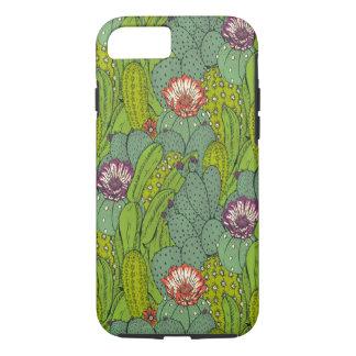 Cactus Flower Pattern Tough iPhone 7 Case