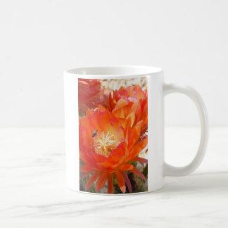 Cactus Flower with a bumble bee Coffee Mug