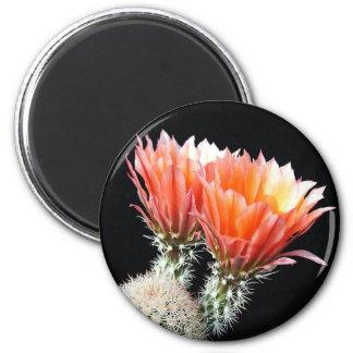Cactus Flowers 2 Inch Round Magnet