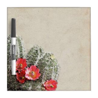 Cactus Flowers Artwork Dry Erase Board
