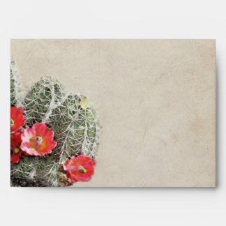 Cactus Flowers Artwork Envelope