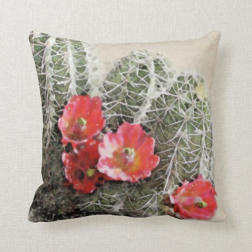 Cactus Flowers Artwork Pillows