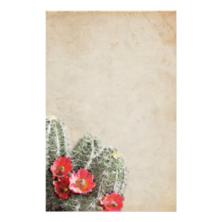 Cactus Flowers Artwork Stationery