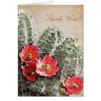 Cactus Flowers Artwork Thank You Card