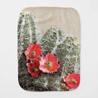 Cactus Flowers Artwork Burp Cloths
