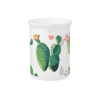 Cactus Flowers Beverage Pitcher