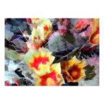 Cactus Flowers Bright and Prickly Custom Invite