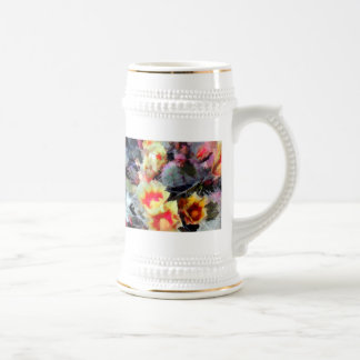 Cactus Flowers Bright and Prickly 18 Oz Beer Stein
