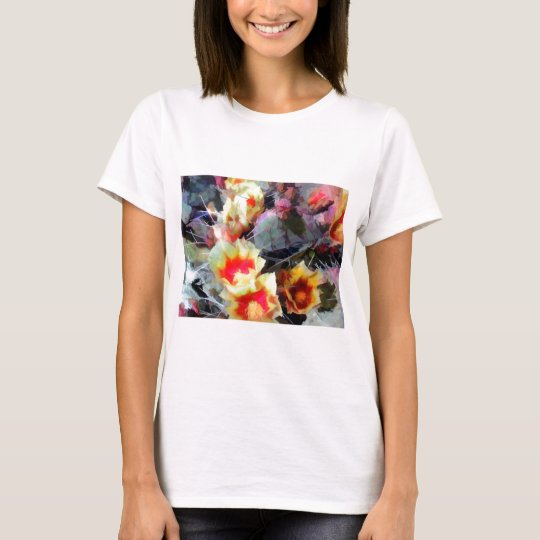 Cactus Flowers Bright and Prickly T-Shirt