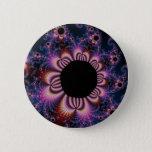 Cactus Flowers - Fractal Pinback Button