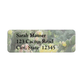 Cactus Flowers Labels