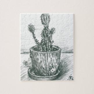 cactus, flowers, nature , plants , pot, magic jigsaw puzzle