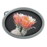 Cactus Flowers Oval Belt Buckles