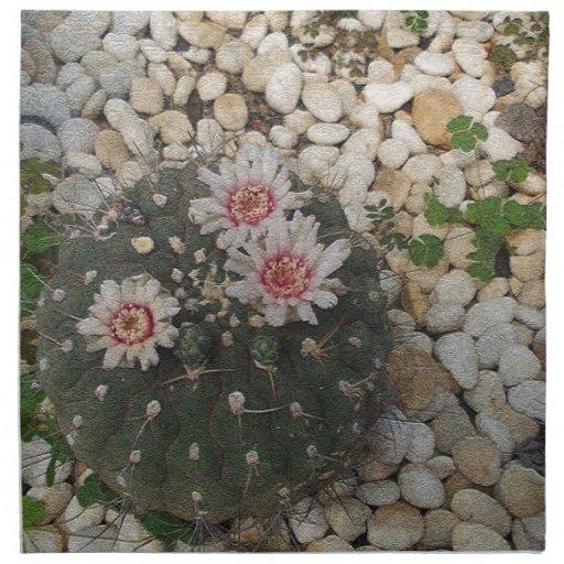 Cactus Flowers Printed Napkin