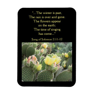 Cactus Flowers Song of Solomon Magnet