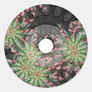 Cactus Flowers Web July 2013 Classic Round Sticker