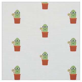 Cactus free hugs fabric
