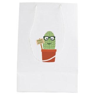 Cactus free hugs medium gift bag